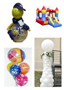Dekoration mit Ballons, raumdeko, Hochzeitsdeko
