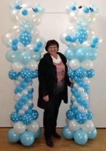 tLuftballons Teddy-saeulen