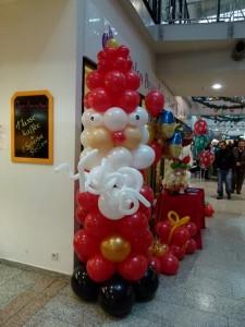 Jahresurlaub , Weihnachtsmann aus Luftballons